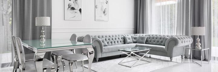 Glamour living room, panorama