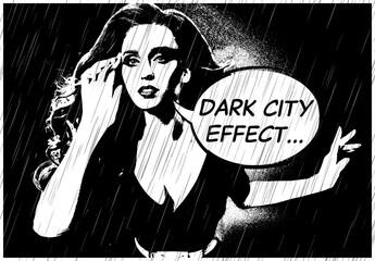 Black and White Comic Book Effect Mockup
