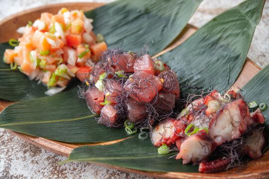 authentic hawaiian poke and lomi-lomi salmon