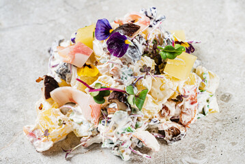 salad with chicken, potato and mayo