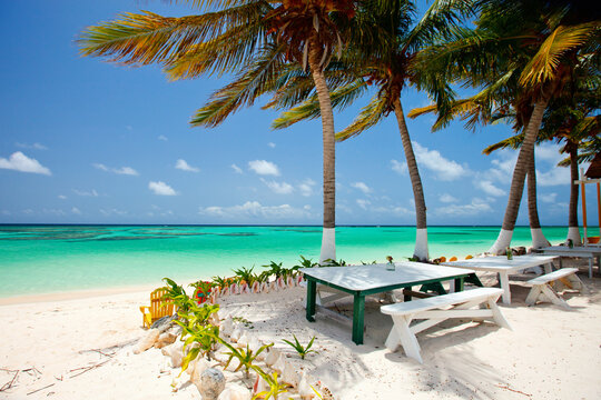 Beautiful tropical beach at Caribbean