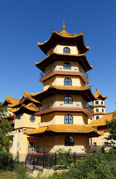 Khanh Anh is the biggest Buddhist Pagoda in Europe. It's located in Evry, 30km south of Paris.