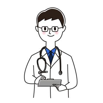 メモを取る男性医師