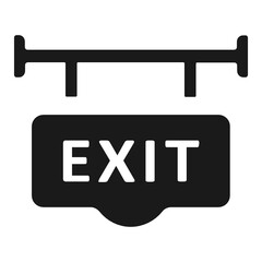 Wall Mural - Exit way icon.