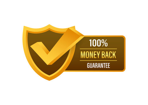 Money back guarantee. Ribbon banner. Sale tag. Sale banner badge. Vector stock illustration.