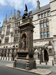 Phoenix Monument marking boundary between City of London and Westminster, England