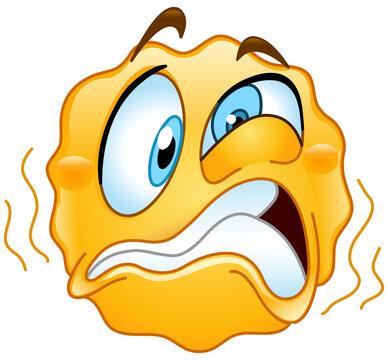 Emoji emoticon vibrating or trembling