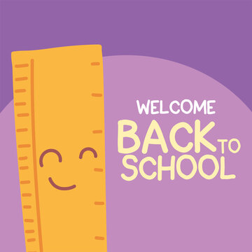 back to school banner, colorful welcome back to school template, rule