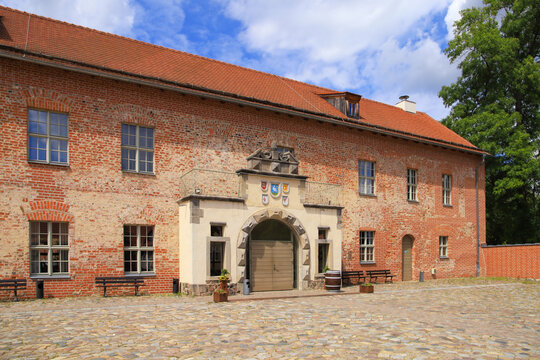 The old castle Storkow in federal state Brandenburg,  Germany