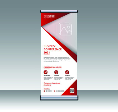 modern Business Roll Up. creative roll up banner, pop up, retractable, x stand, standee banner