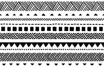 Photo sur Plexiglas Style Boho Ethnic vector seamless pattern. Tribal geometric background, boho motif, maya, aztec ornament illustration. rug textile print texture