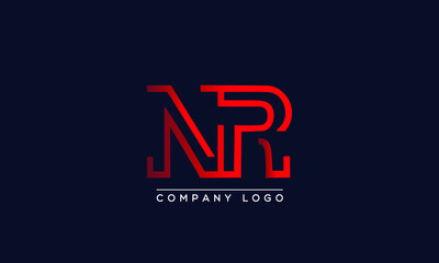 Creative letters NR or RN Logo Design Vector Template. Initial Letters NR Logo Design