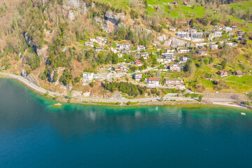 Travel in Switzerland. Town  Vitznau. Lake Lucerne.
