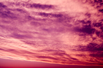 Foto op Canvas Candy roze clouds in the sky