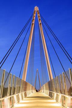 Pedestrian-Bike Bridge in Cupertino California