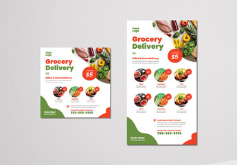 Grocery Delivery Social Media Layouts