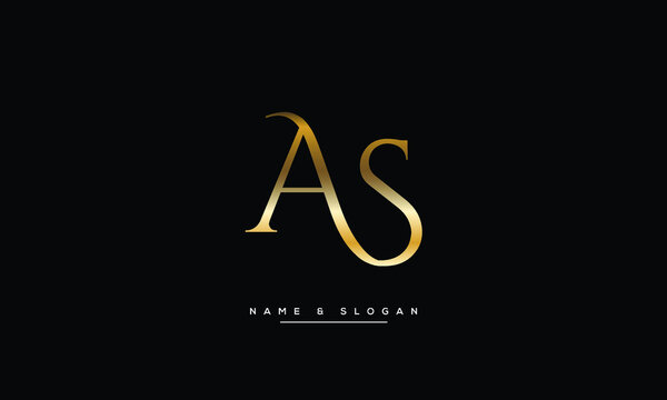 AS ,SA,A,S Abstract Letters Logo Monogram