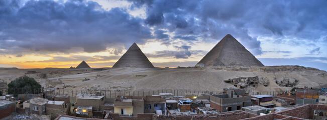 Tuinposter Grijs pyramides of giza