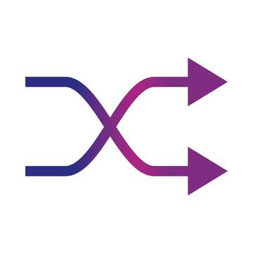 arrow shuffle refresh gradient style icon