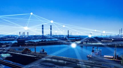 Spoed Fotobehang Europa 産業とネットワーク ICT IoT 5G