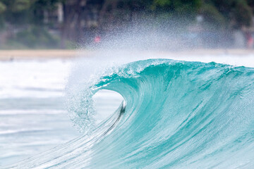 breaking ocean waves on the Andaman sea