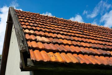 Fototapeta Stary mały budynek dachówki obraz