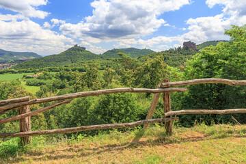 View to Trifels Castle near Annweiler in Rhineland-Palatinate