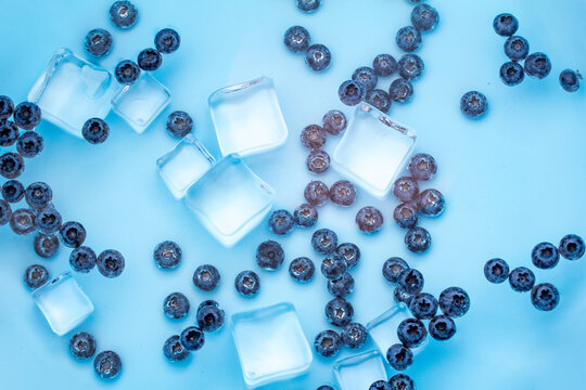 Fresh, plump blueberries