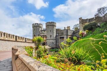 Windsor castle in spring, London suburbs, UK