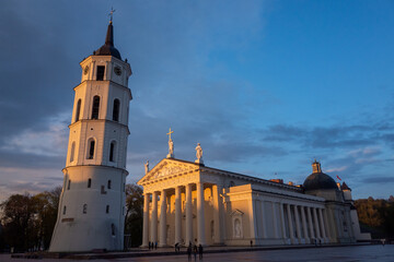 April 27, 2018 Vilnius, Lithuania. Cathedral of St. Stanislav in Vilnius.