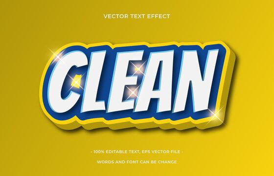 Clean editable text effect