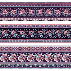 Abstract ethnic stripes. Ornamental borders set
