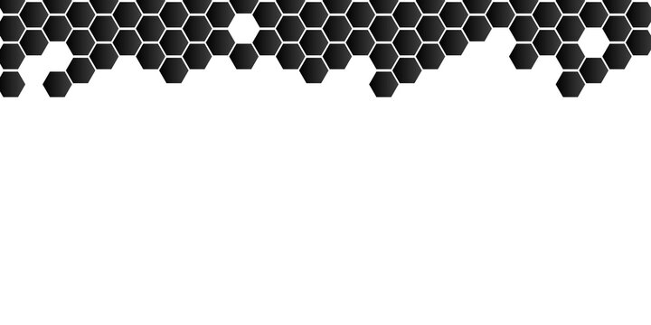 Hexagonal abstract metal background with white copy space for presentation design templates