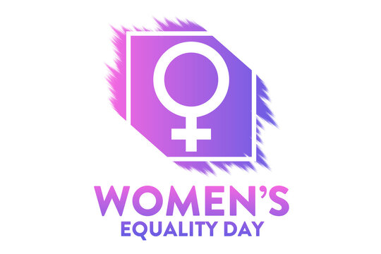 Women's Equality Day. August 26. Holiday concept. Template for background, banner, card, poster with text inscription. Vector EPS10 illustration.