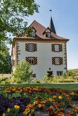 Wasserschloss Entenstein in Schliengen in Baden-Württemberg, Deutschland