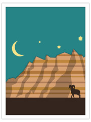 badlands landscape | postcard template