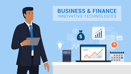 Business and finance innovative technologies