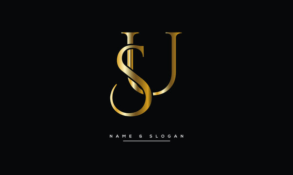 SU,US ,S ,U  Abstract Letters Logo Monogram