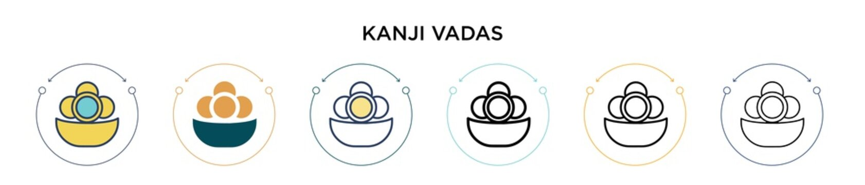 Kanji vadas icon in filled, thin line, outline and stroke style. Vector illustration of two colored and black kanji vadas vector icons designs can be used for mobile, ui, web