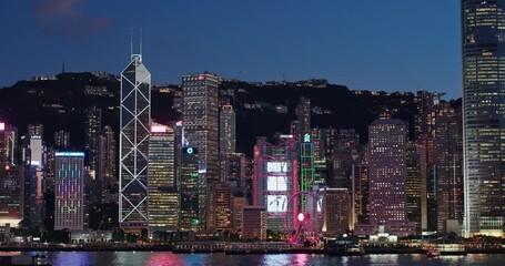 Wall Mural - Hong Kong city night