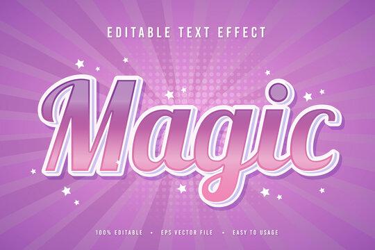 decorative magic Font and Alphabet vector