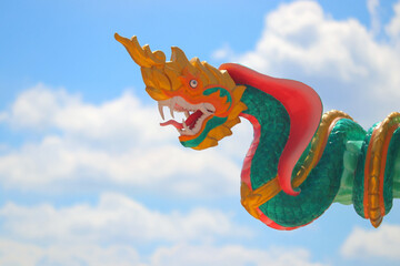 serpent statue with beautiful sky background