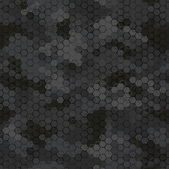 Fototapeta Texture military camouflage seamless pattern. Abstract army vector illustration