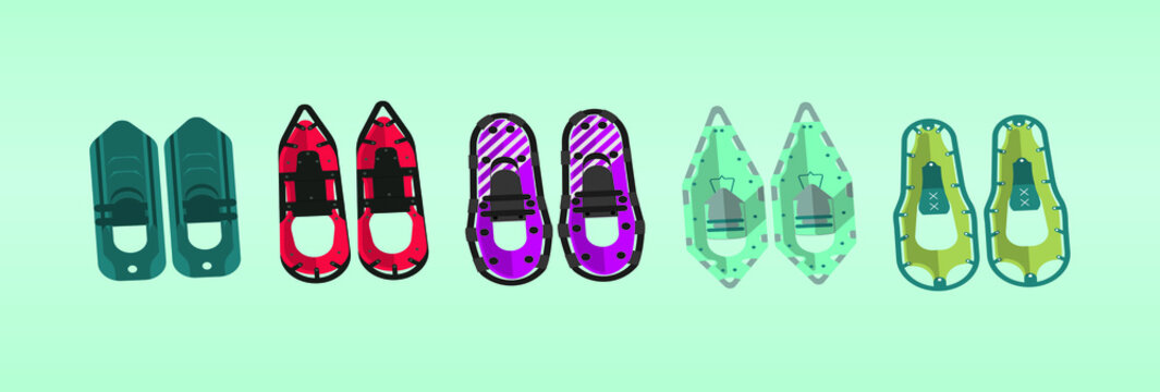 Set of snowshoes vector illustration