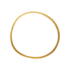 Hand Drawn Circle Shape - Golden Circle Line Element