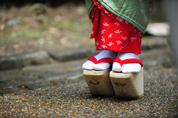 Okobo, japanese traditional clogs of Maiko(young geisha in Kyoto).