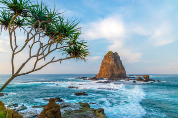 Papuma Beach - Jember is the the most beautiful beach in East Java, Indonesia