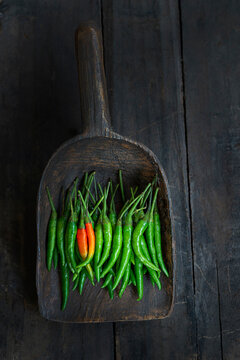 Green Thai Chile peppers
