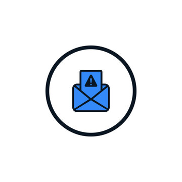 Email Spamming Icon, Spam mailing, wrong e-mail address icon