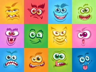 Emotions monsters faces